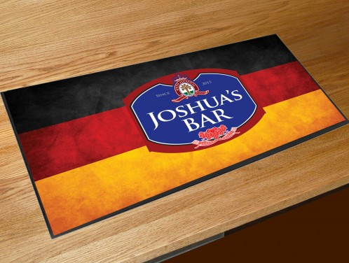 Personalised German flag bar runner mat
