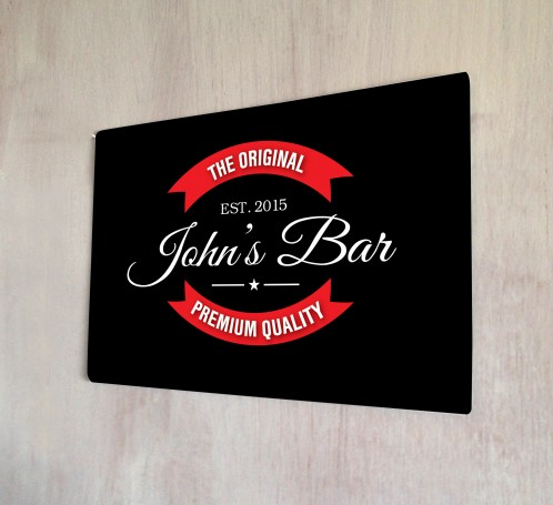 Personalised Red Beer Label Original Sign