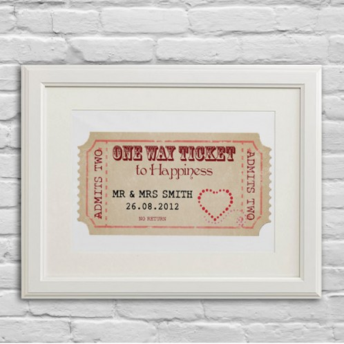 Personalised Wedding gift print
