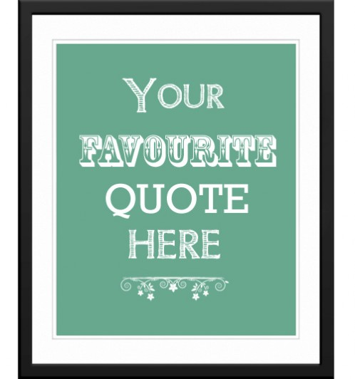 personalised words quote art print