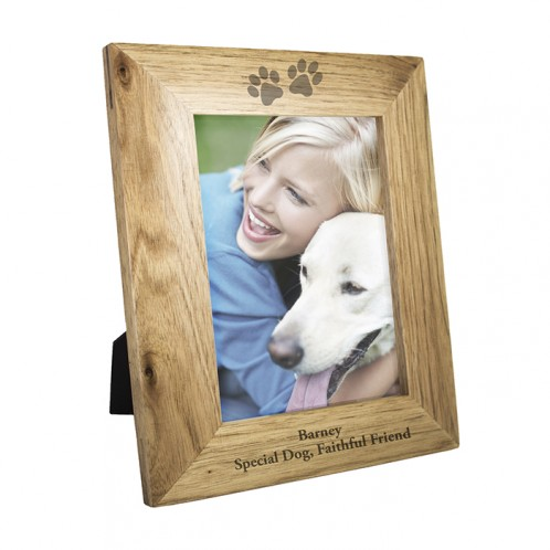 Personalised 5x7 Paw Prints Wooden Frame