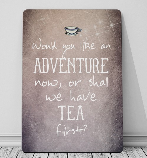 Would you like an Adventure? Peter pan quote print