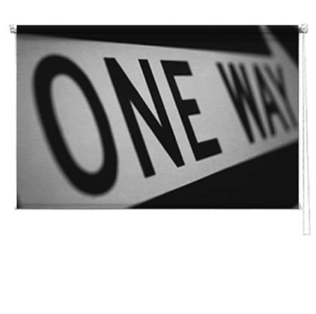 One way sign blind