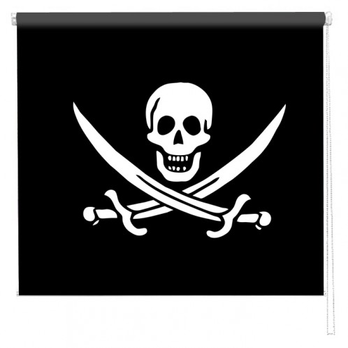 Pirate flag printed blind