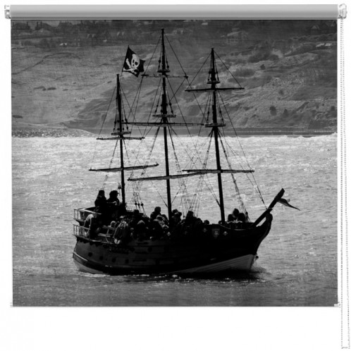 Pirate ship printed blind