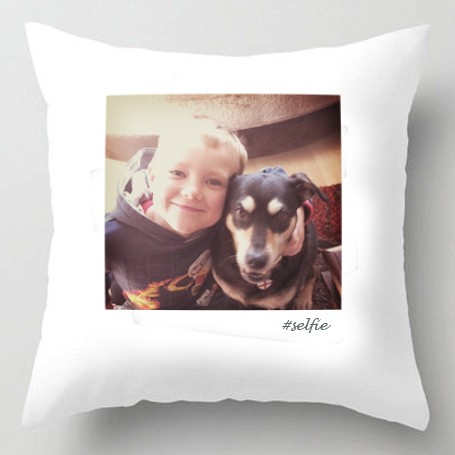 Polaroid photo cushion
