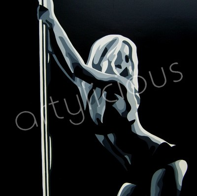 Poledancer canvas art