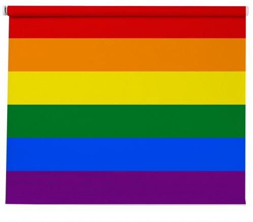 Rainbow Flag printed Blind