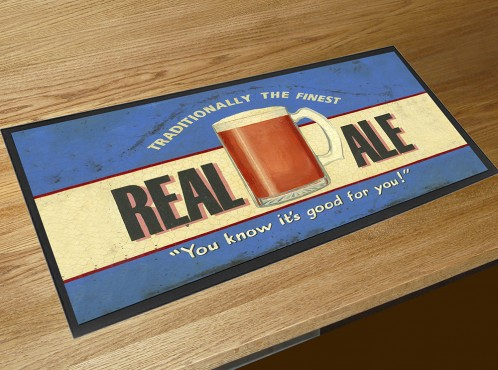 Real Ale bar runner counter mat