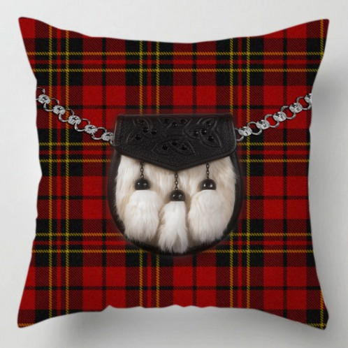 Red Tartan Sporran cushion