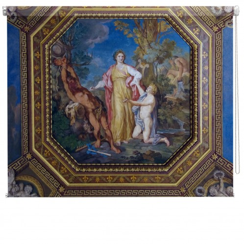 Renaissance ceiling painting printed blind