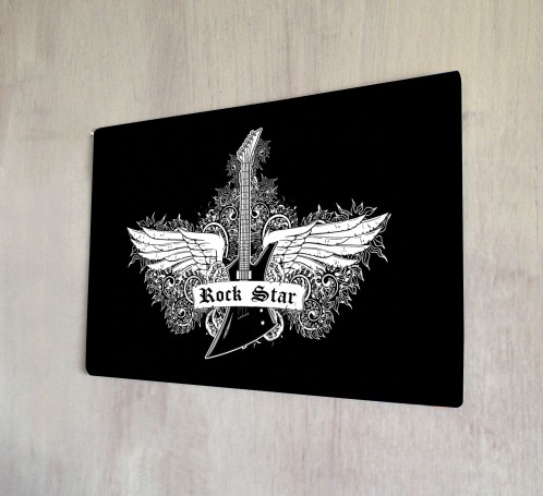 Rock Star metal sign