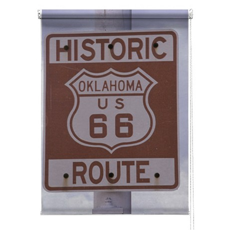 Route 66 printed blind