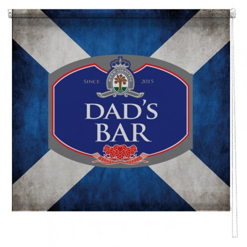 Personalised Scottish Flag beer sign printed blind