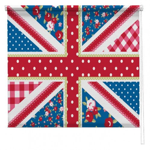 Shabby Chic Union Jack flag printed blind