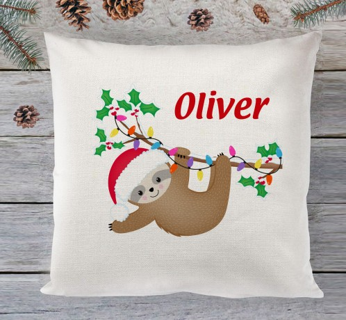 Christmas Sloth cushion