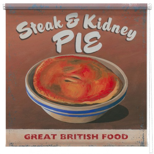 Sreak and kidney pie printed blind martin wiscombe