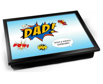 Dad comic fathers day personalised tray