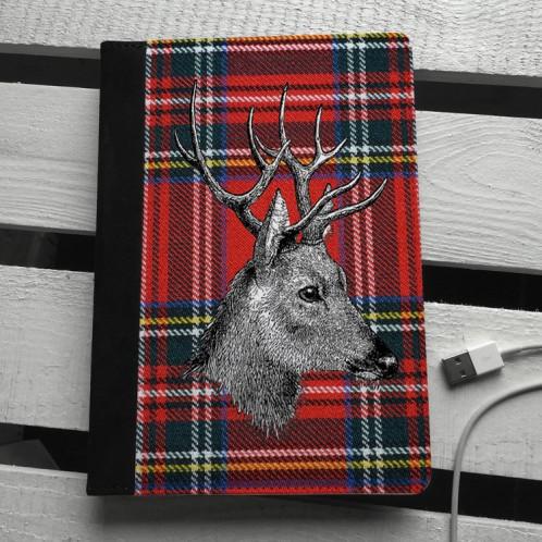 Tartan Stag iPad mini case