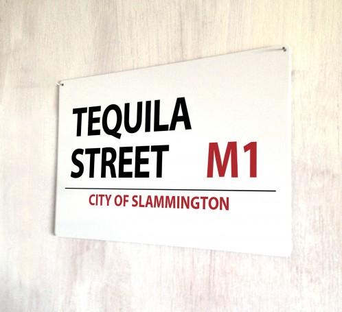 Tequila Street metal street Sign