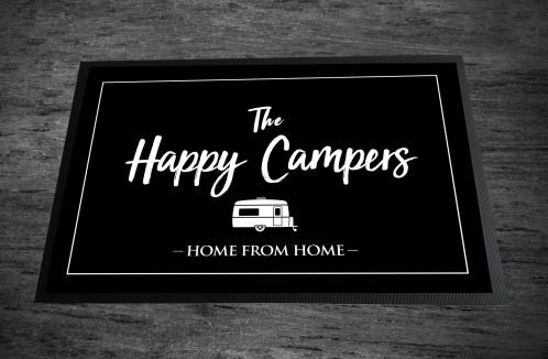 Happy Campers caravan Door Mat