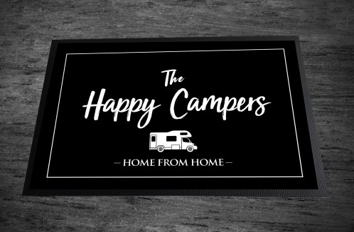 Happy Campers campervan Door Mat