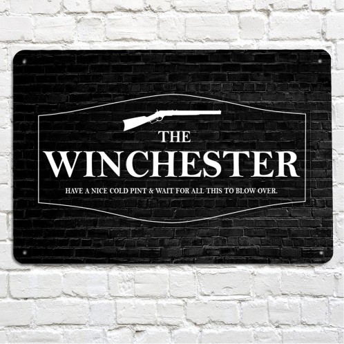 THe winchester pub metal sign, shaun of the dead