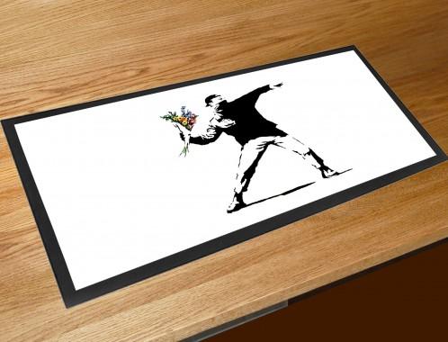 Banksy flower thrower bar runner