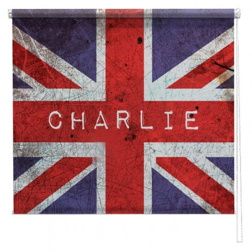 Union Jack personalised childrens printed blind