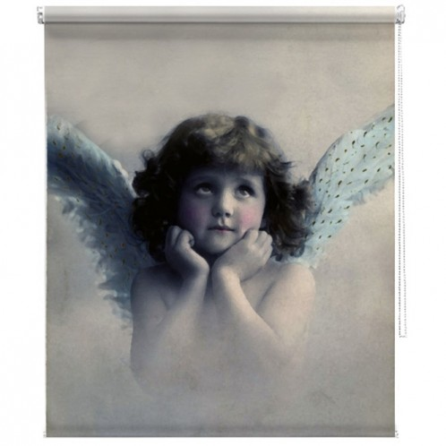 Vintage Cherub Angel printed blind