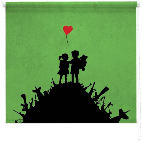Banksy graffiti printed blind War Children