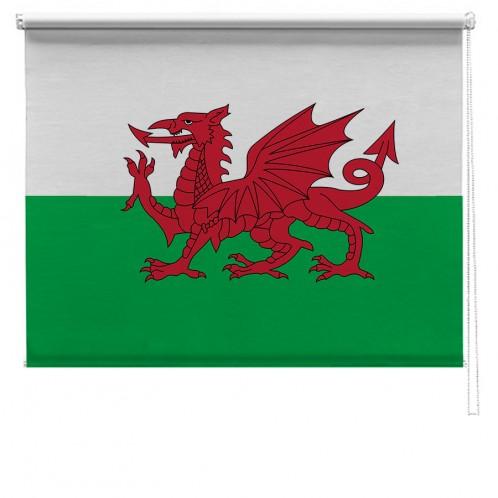 Welsh flag printed blind