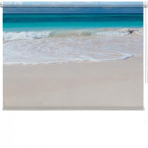 WHite Beach printed blind