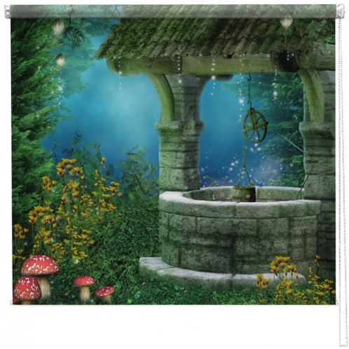 Wishing well printed blind