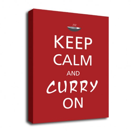 Keep Calm Curry on canvas art
