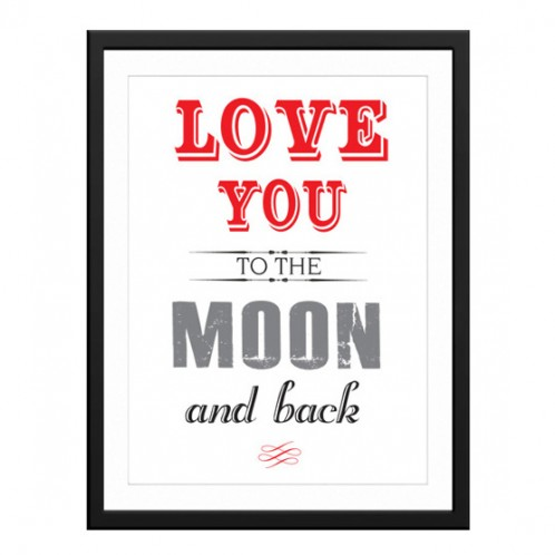 Love you to the moon and back canvas art