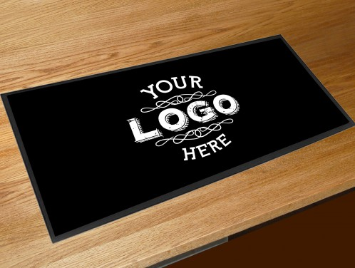 Personalised Logo Bar runner pub bar cocktail club counter mats