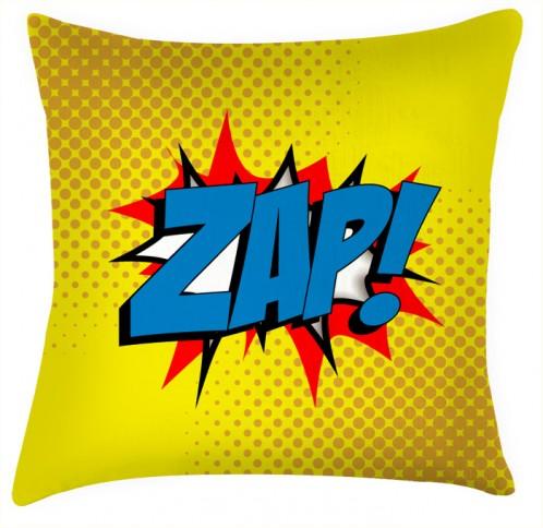 ZAP comic funky style yellow cushion
