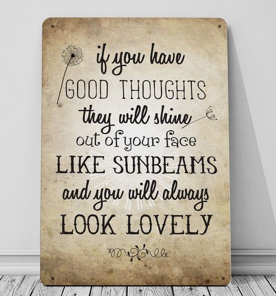 If you have Good Thoughts Roald Dahl quote print