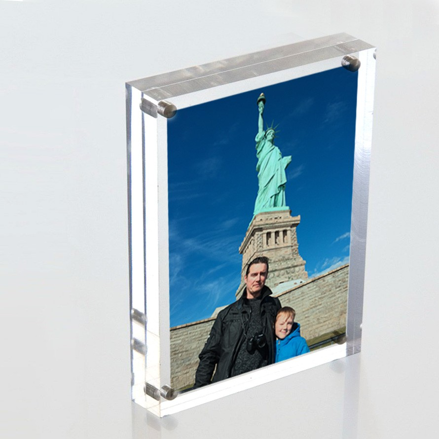 Personalised magntic Acrylic photo print block