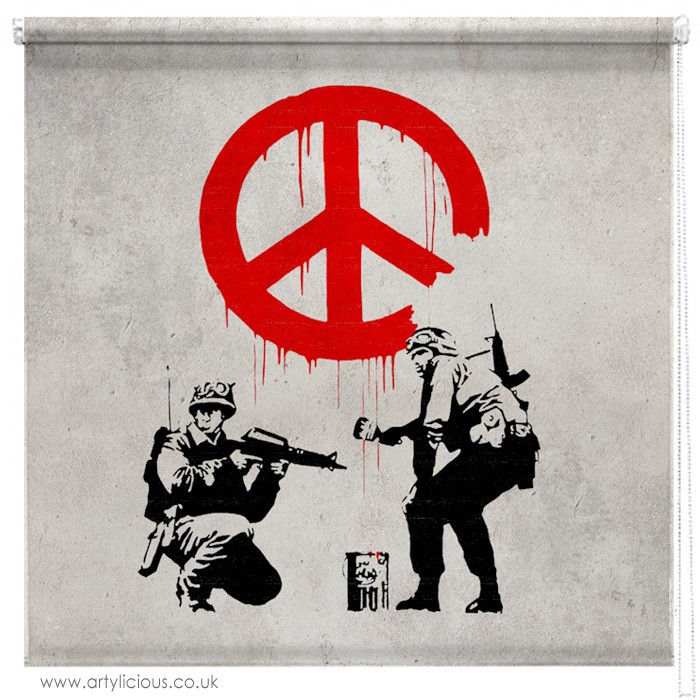 Banksy Peace Not War Blind Picture Printed Blinds At