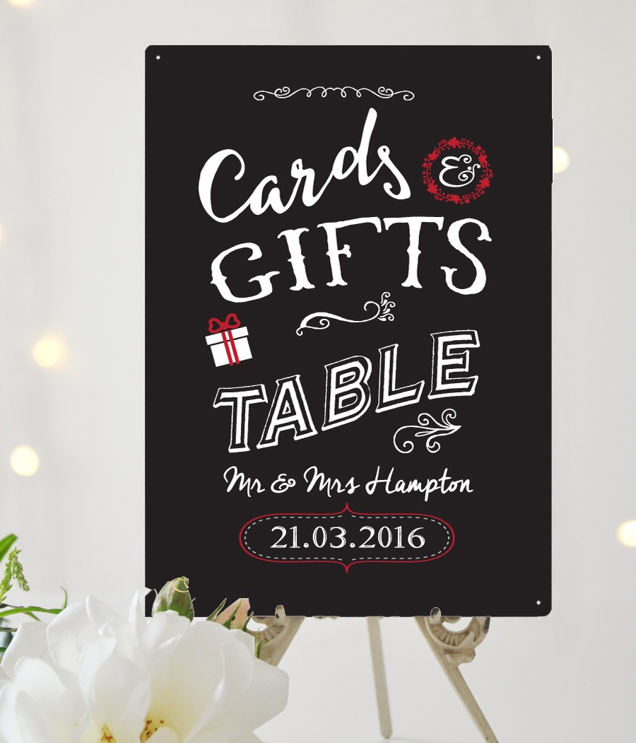 Cards & Gifts personalised Wedding sign