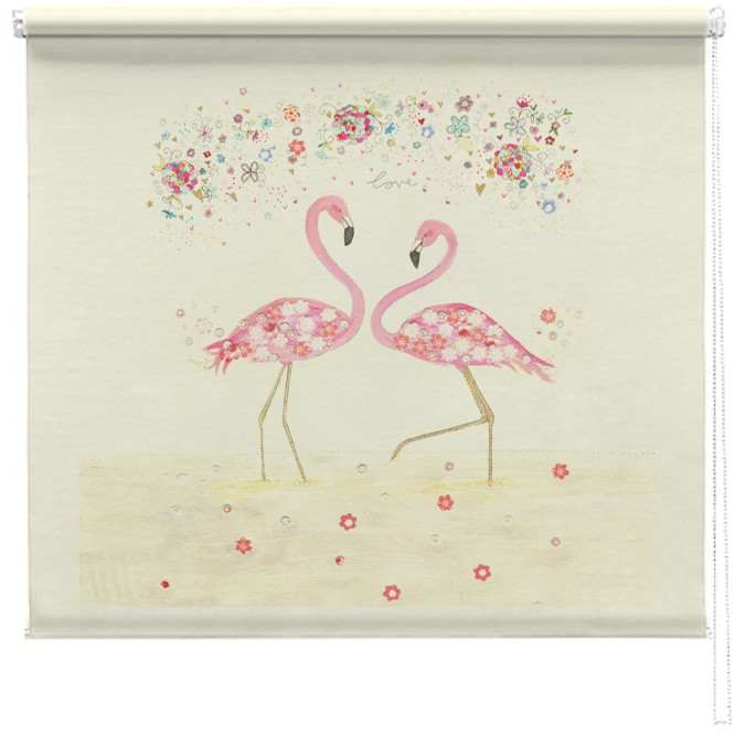 Flamingo Love Printed Blindd Picture Printed Blinds At