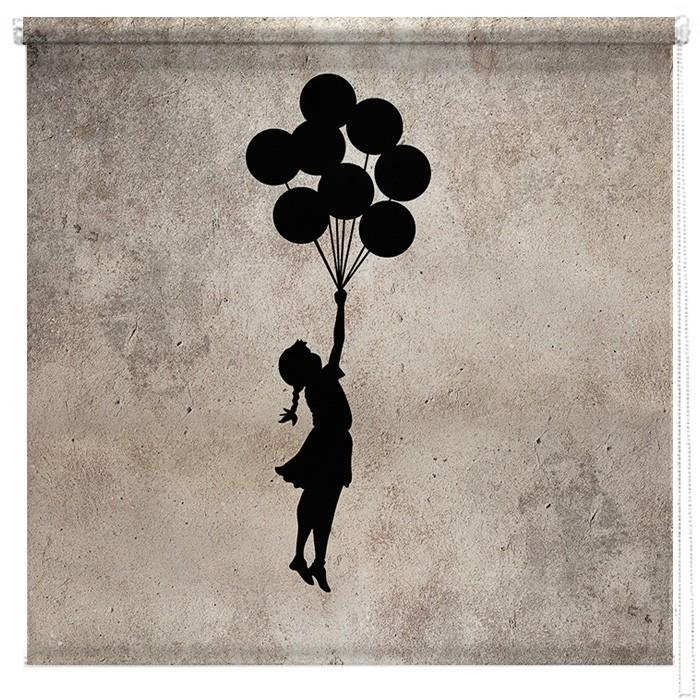 Banksy Flying Balloon Girl Printed Blind Picture Printed