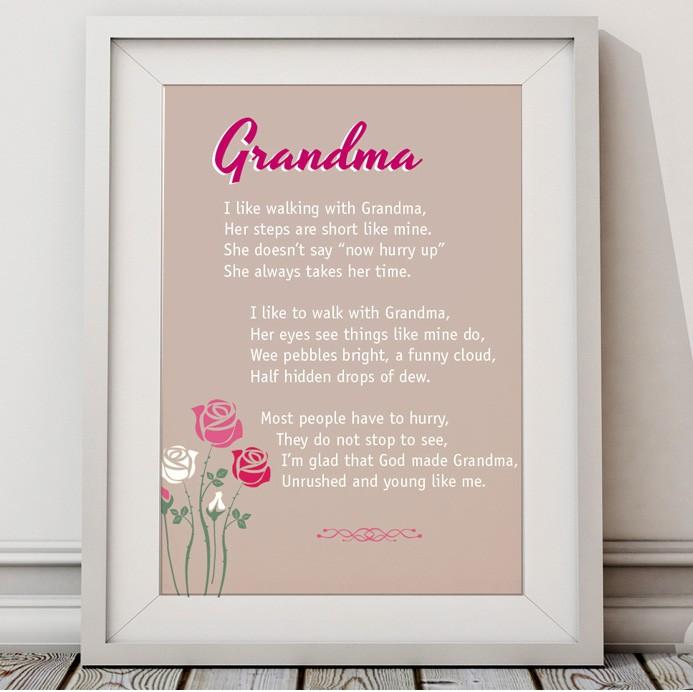 i love walking with grandma canvas art or unframed print great