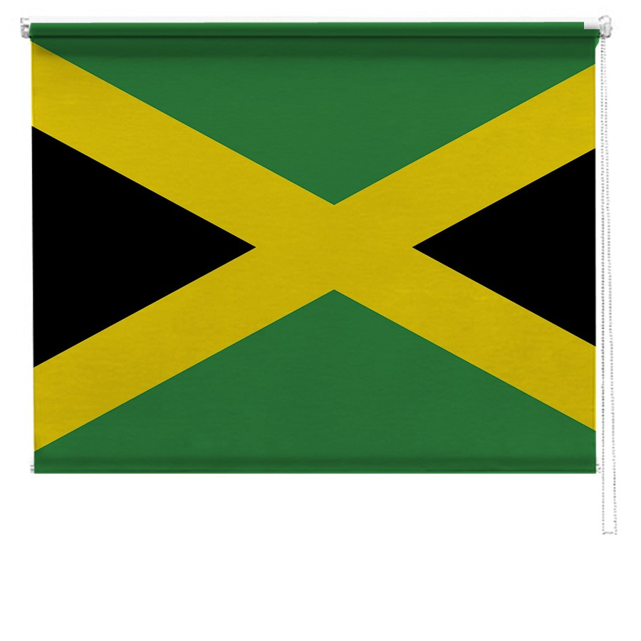 Jamaican flag printed blind | Picture printed Blinds at Artylicious