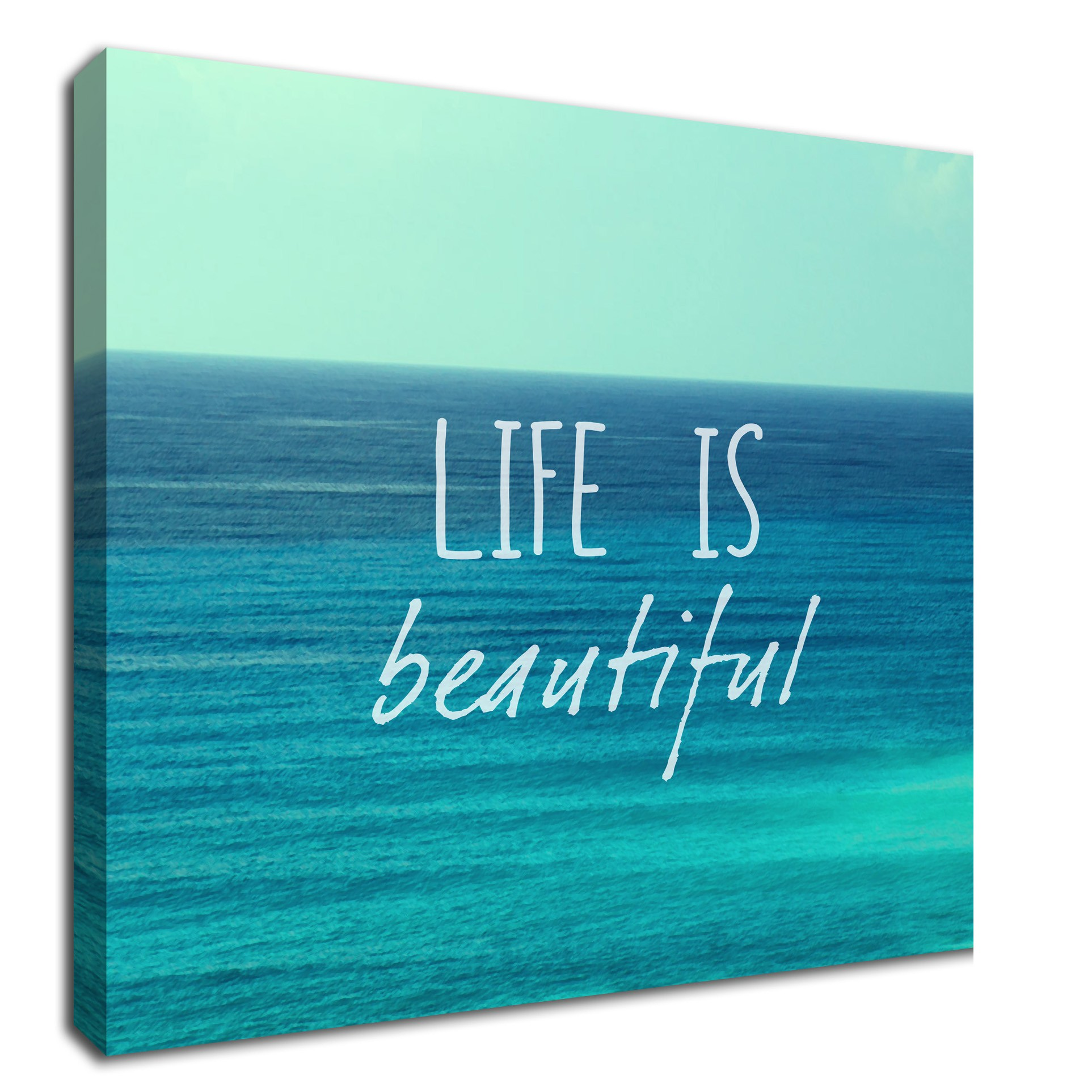 life is beautiful inspirational quote canvas art. Black Bedroom Furniture Sets. Home Design Ideas
