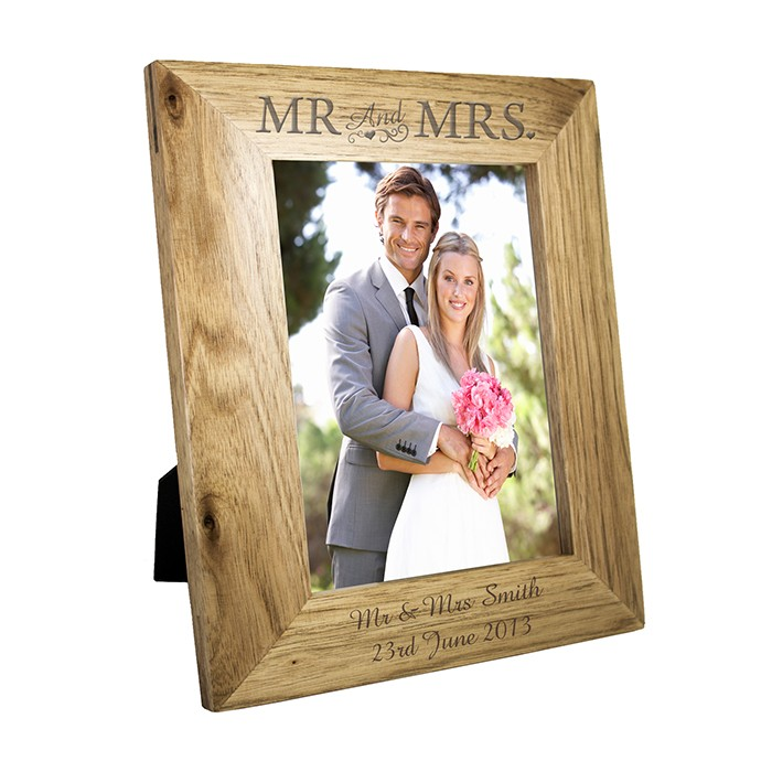 Personalised 5x7 Mr Amp Mrs Wooden Frame