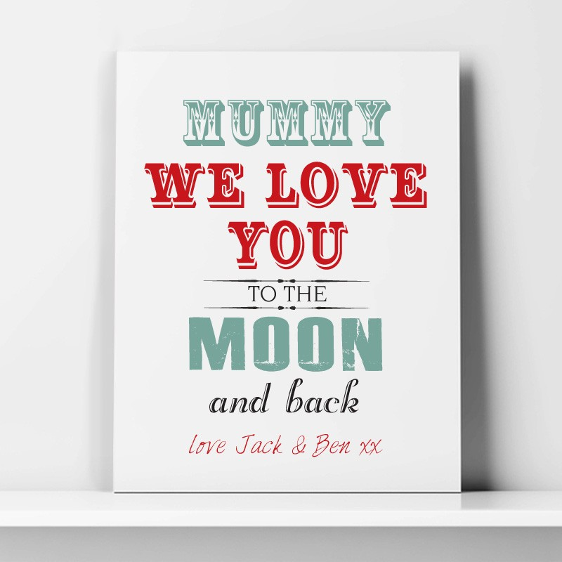 Love you to the moon and back Personalised Mothers Day Gift