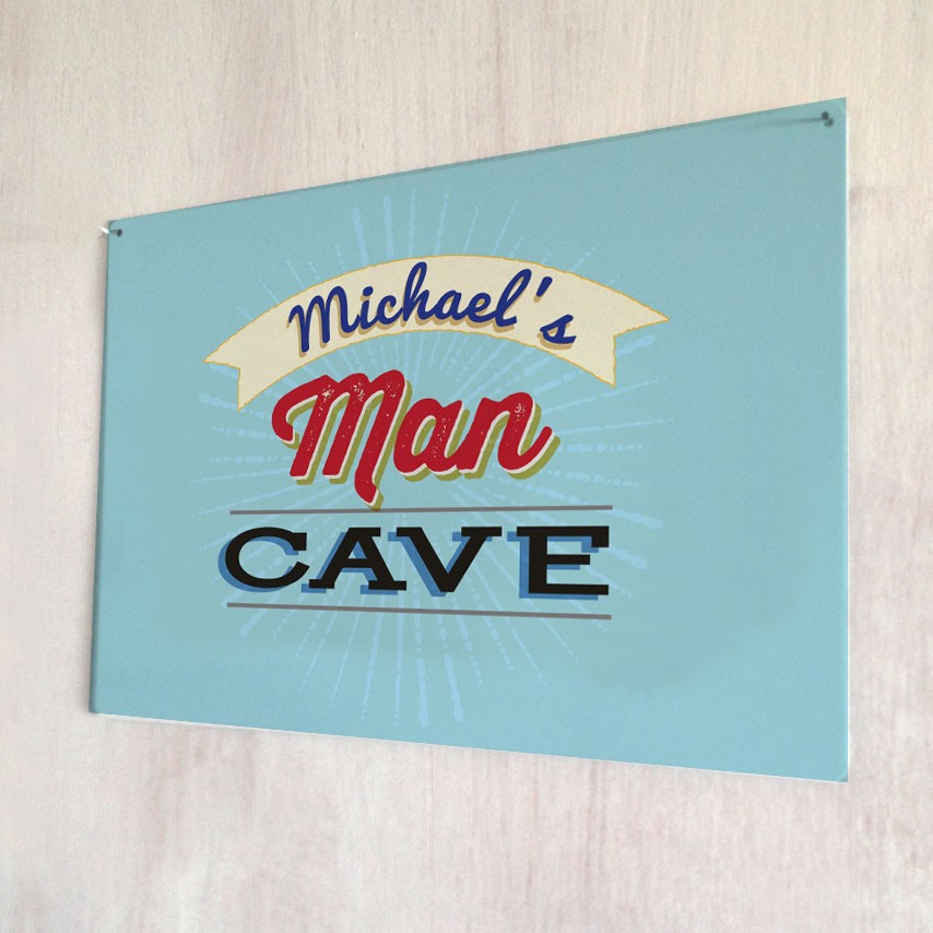 Man Cave Gifts Uk : Personalised man cave metal sign